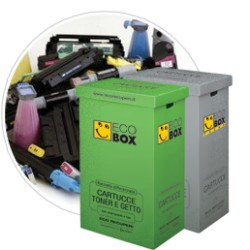 SMALTIMENTO TONER-DRUM - 1 ECOBOX 3/4 RITIRI ANNUALI